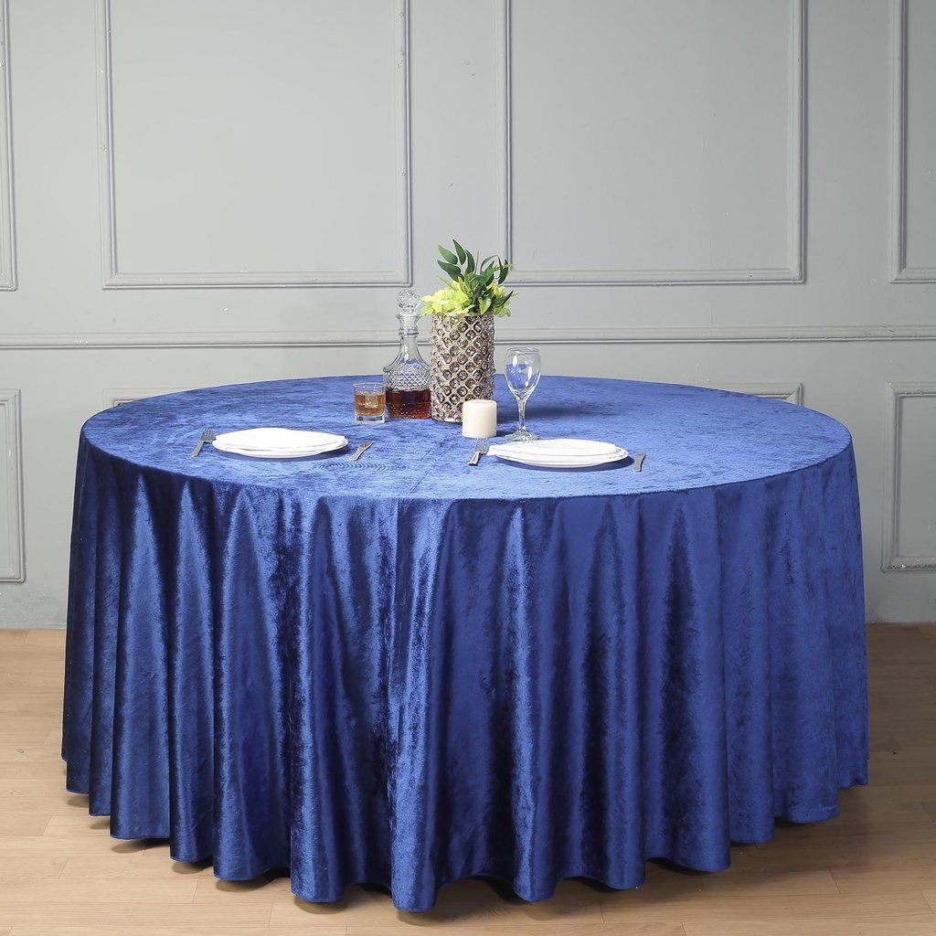 120 Premium Velvet Round Tablecloth Royal Blue With Images