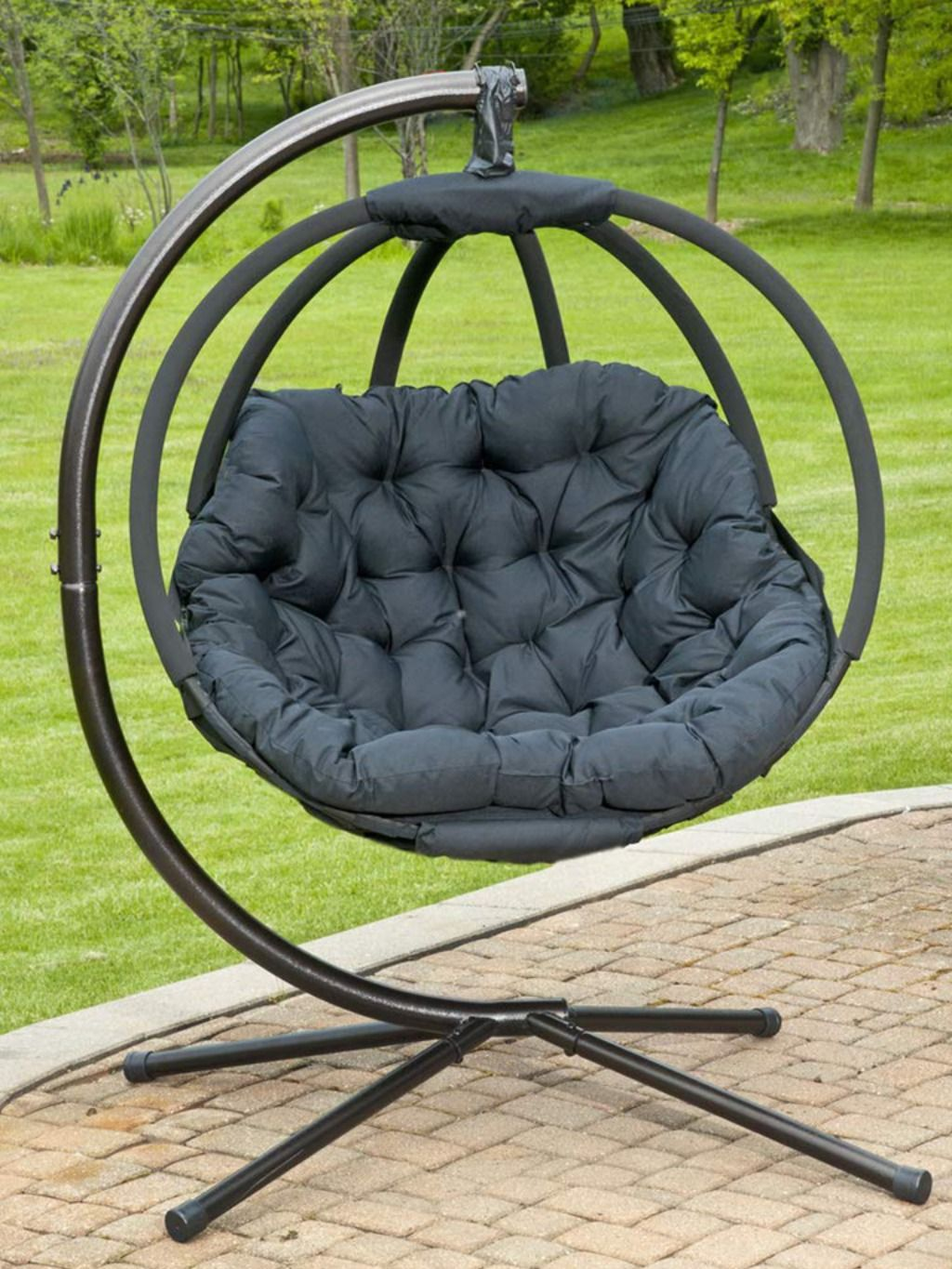 Hanging Ball Chair With Stand Flower House In 2020 Hanging Chair Diy Hanging Chair Ball Chair