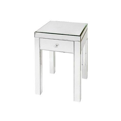 Target Mirrored Glass Accent Table 25, Target Mirrored Furniture