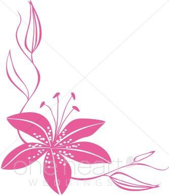 Pink flower border clipart google search tiger lily artill pink flower border clipart google search mightylinksfo
