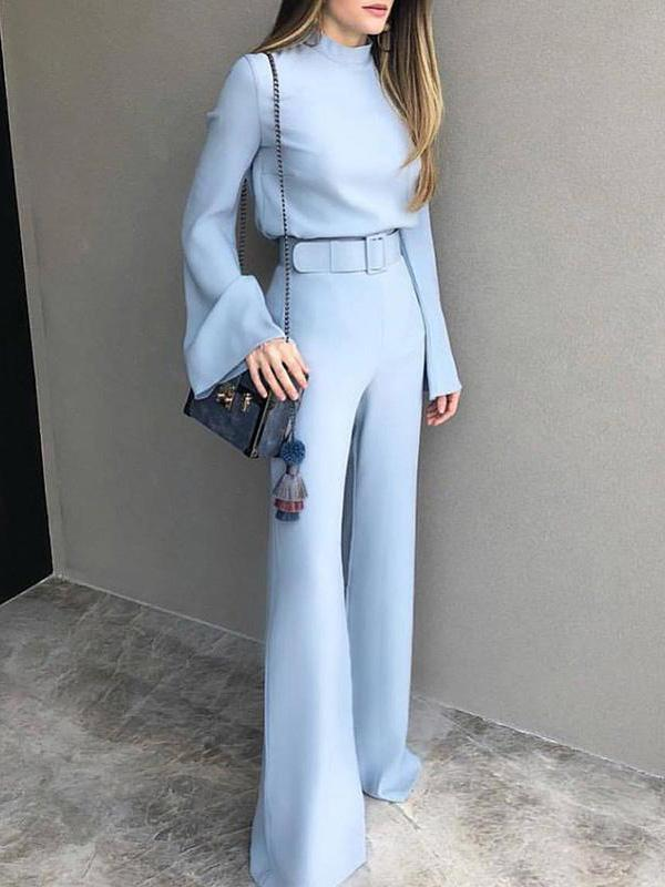 Photo of Sexy Blue Top And Casual Pants Suits
