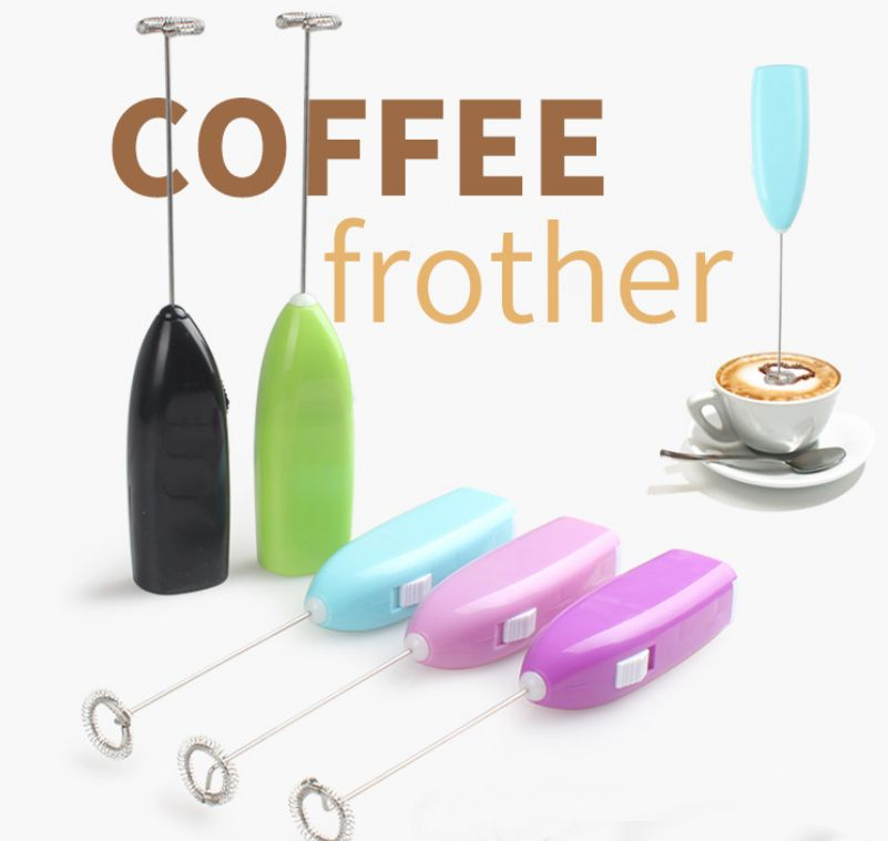 Electric Milk Frother Drink Foamer Whisk Mixer Stirrer Coffee Egg Beater Tool US