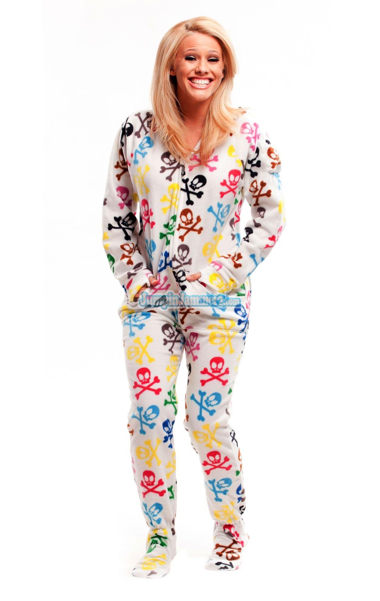 398970d0d Silly Skulls - Hooded Footed Pajamas - Pajamas Footie PJs Onesies ...