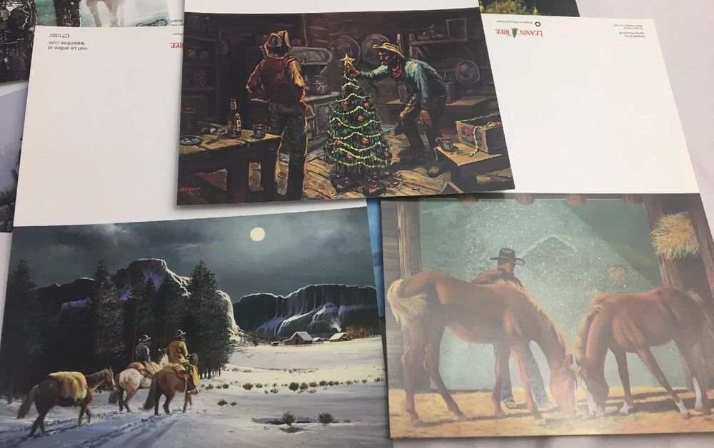 Leanin Tree Cowboy Christmas Cards Card Lot Country Western Theme ...