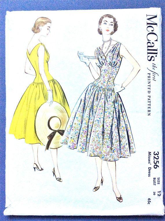 1950s Dress Pattern McCall\'s 3256 circa 1955 Misses\' | Klänningar ...