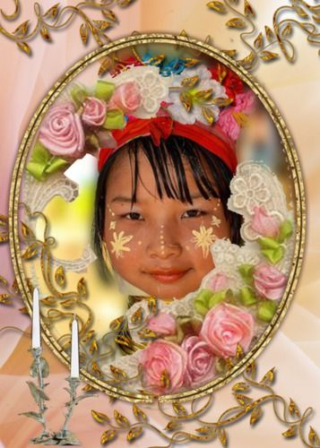 Frame Flowers Online Photo Editing Card Making Pinterest