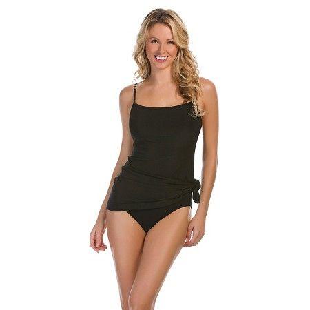 ed46e2f8a7a Women's Side Tie Swim Dress - Aqua Green® Titanium M   BLACK is ...
