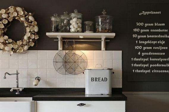 Mooie muursticker voor in de keuken