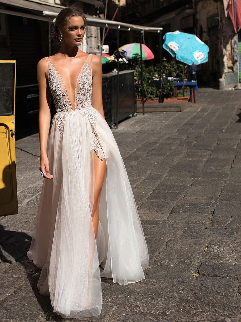 Sheer wedding dress  MUSE by Berta Fall  Sultry Gowns With Sicilian Flare  Sheer