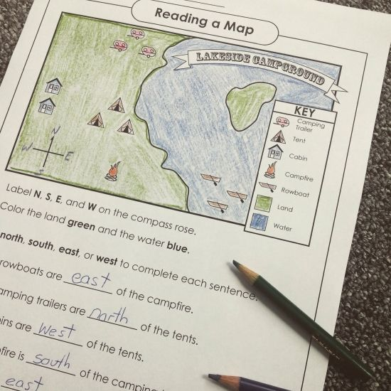 Super Teacher Worksheets has map skills activities! | Social Studies ...