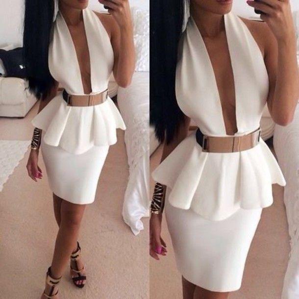 Deep v neck gold dress shoes | Color dress | Pinterest | Two piece ...