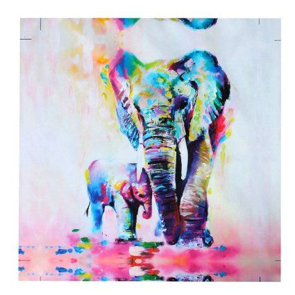 Souvent Mohoo 50x50cm Bricolage Numérique Peinture à L'huile Éléphant  MJ29