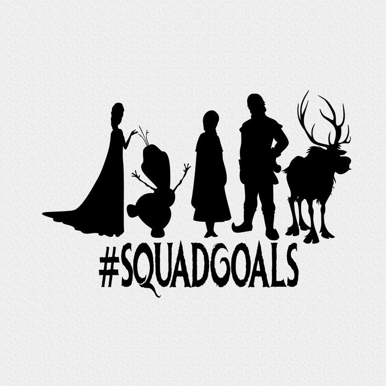 Frozen Disney Download Squad Goals With Elsa Anna Olaf Etsy In 2020 Disney Silhouettes Frozen Silhouette Frozen Cricut