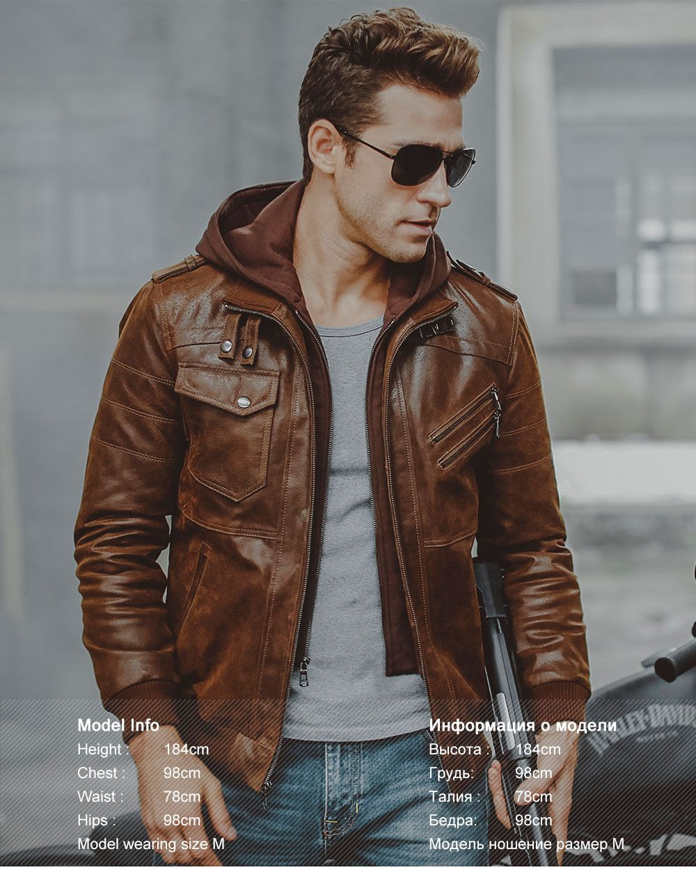 Men's Warm Genuine Leather Jackets up to 50 off Black