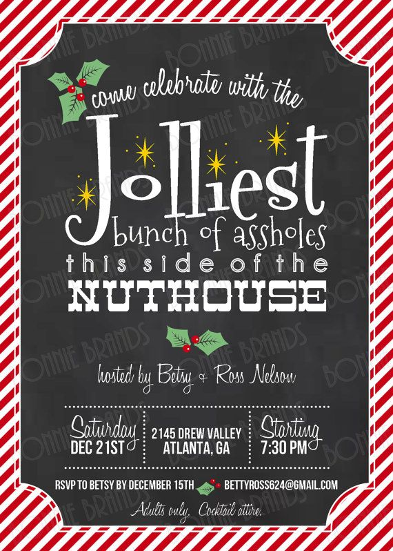 Ordinary Themed Christmas Party Ideas For Adults Part - 12: CUSTOMIZED // PRINTABLE // Holiday Party Invitation // Christmas Vacation  Clark Griswold Theme // Adults Only Party // Red, Green, Gold I Would Love  To Have ...