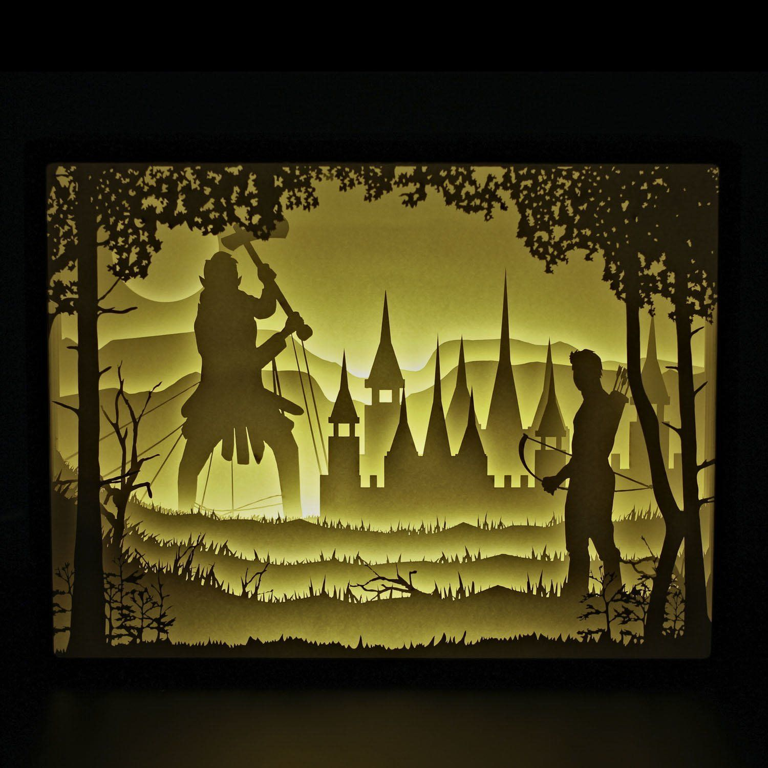 Papercut Light Boxes, Night Light Lamp of Creative Light Paintings ...