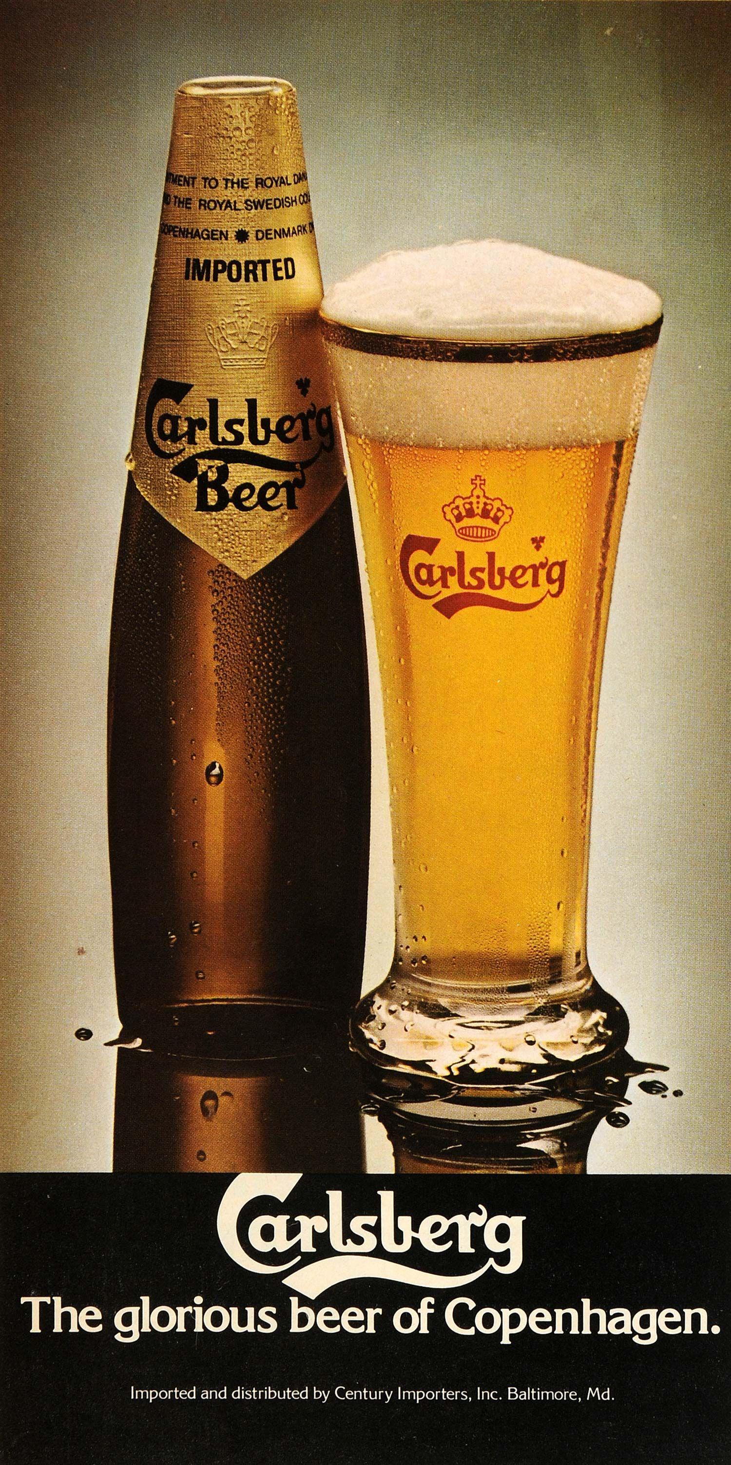 eee1ab45e07e 1979 Ad Carlsberg Beer Copenhagen Century Importers Baltimore Bottle Glass