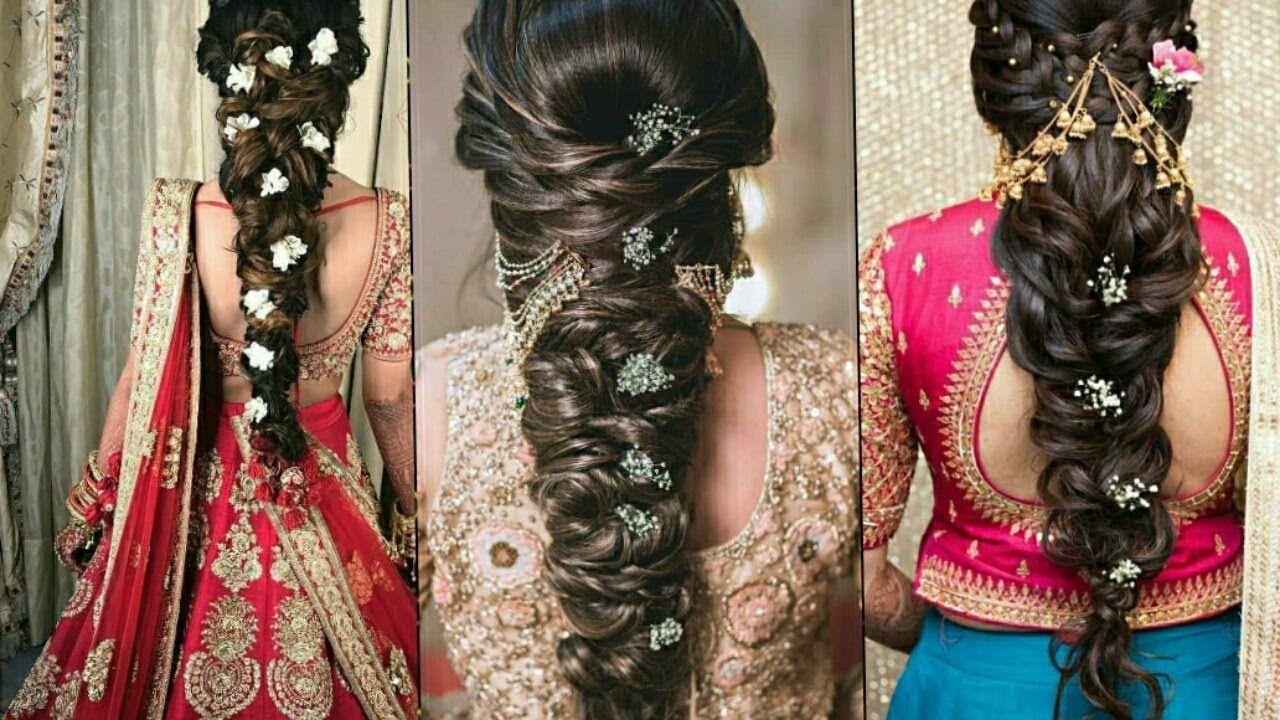 Latest Bridal Wedding Hairstyle Encagement Hairstyle Party Hairstyle Party Hairstyles Indian Wedding Hairstyles Wedding Hairstyles
