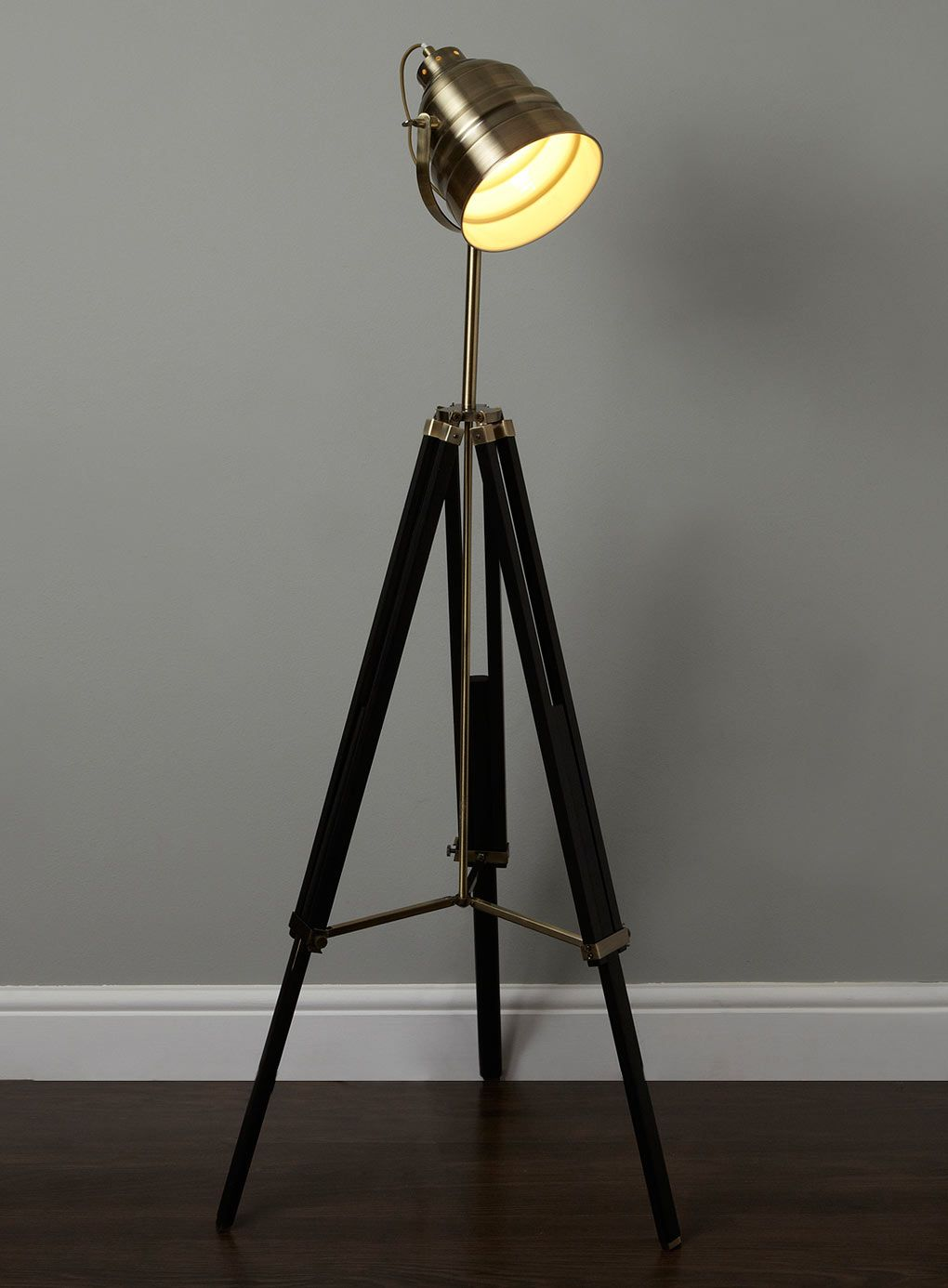 Camera tripod lamp - British home stores | Wooden Lamps | Pinterest ...