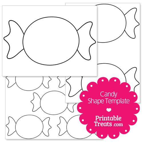 printable candy shape template | christmas party | Pinterest ...