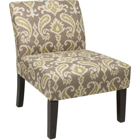 I pinned this Ave Six Ikat Accent Chair in Gray from the
