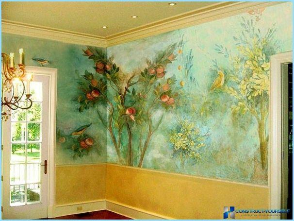 Pittura Pareti Effetto Seta : Pittura murale decorativo con leffetto di seta colore e arredo
