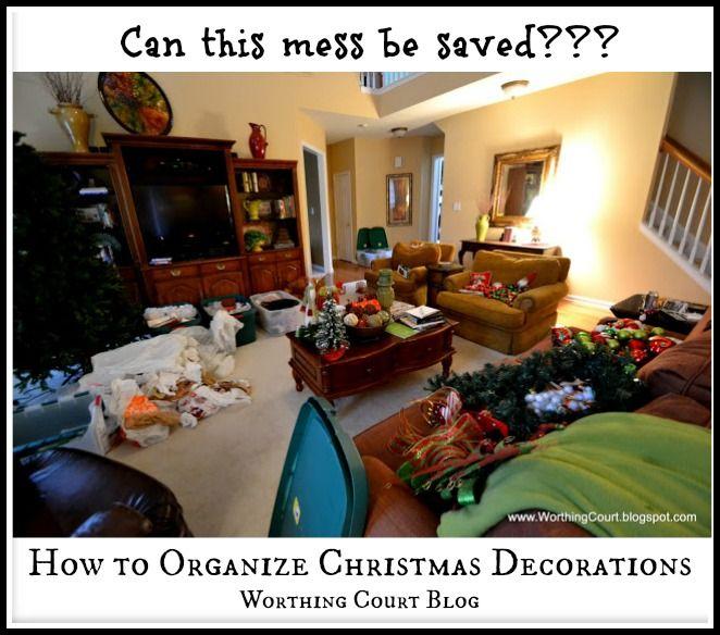 How to Organize Christmas Decorations   Pinterest   Organizing ...