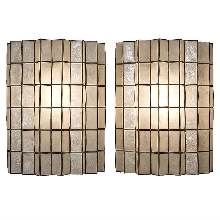 1stdibs pair of capiz shell wall sconces explore items from 1stdibs pair of capiz shell wall sconces explore items from 1700 global dealers at 1stdibs mozeypictures