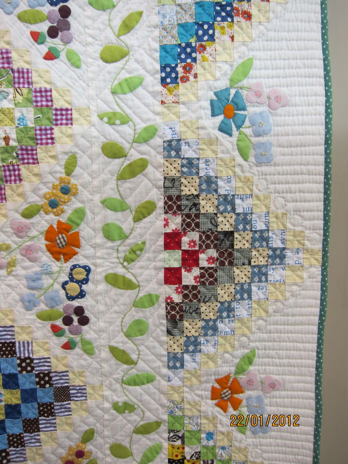Detail Of Border Of Many Trips Around The World Applique