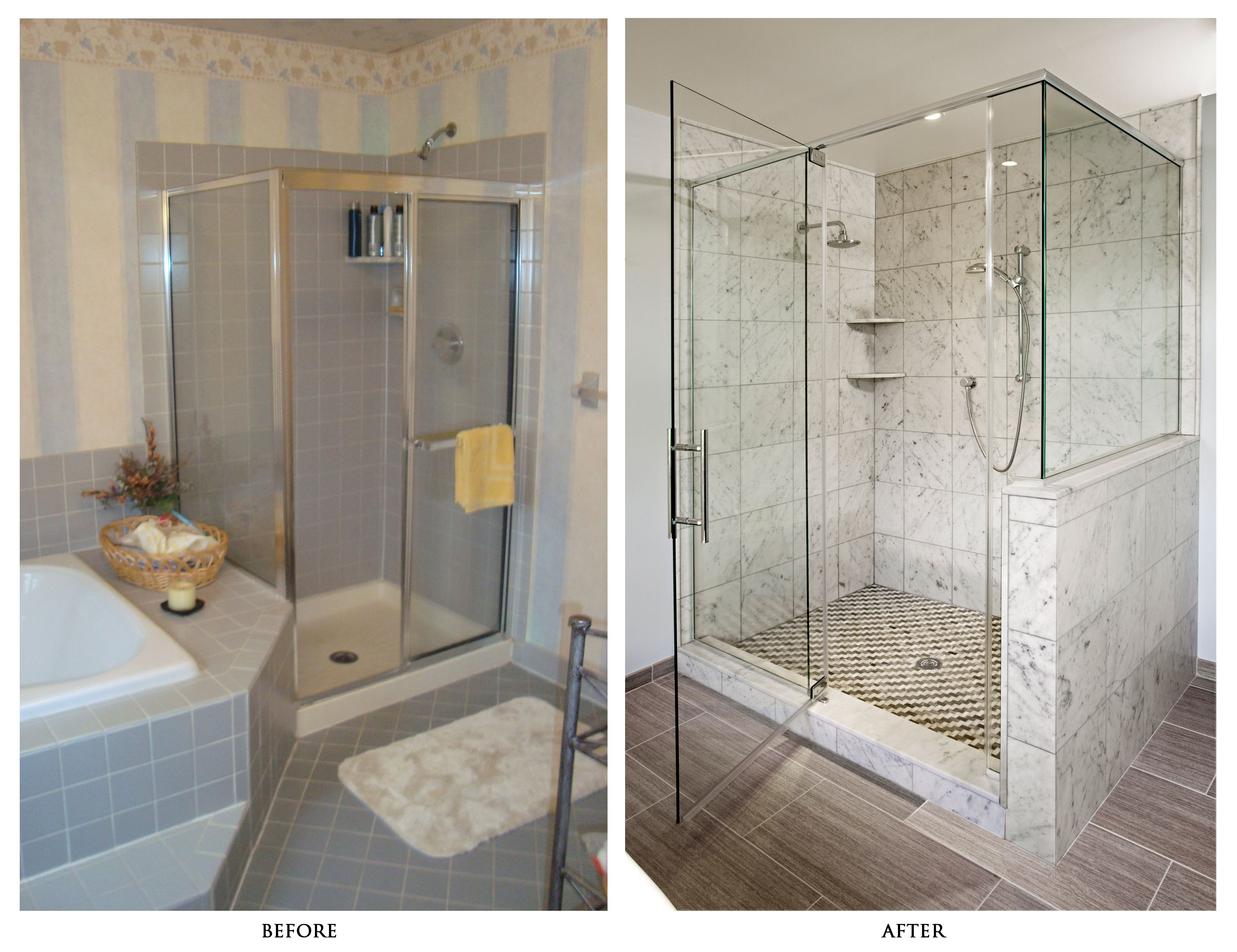 Bathroom Renovation Ideas Before And After fancy small bathroom remodel with larger glass shower enclosure