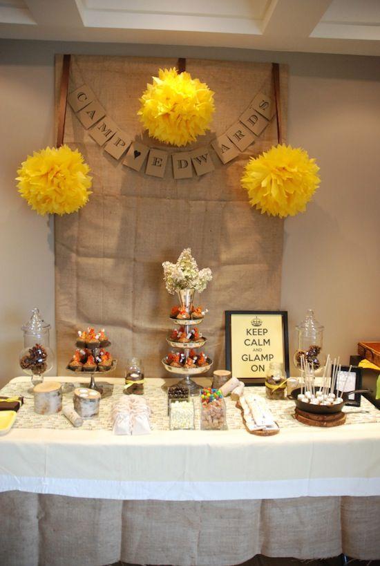 glamping party, food sugarplumsisters Tween Party Ideas