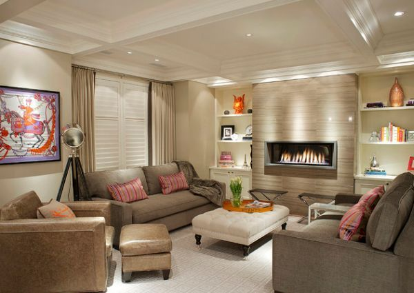 Contemporary Living Room Ideas With Fireplace 2016  Modern Living Extraordinary Living Rooms With Fireplaces 2018