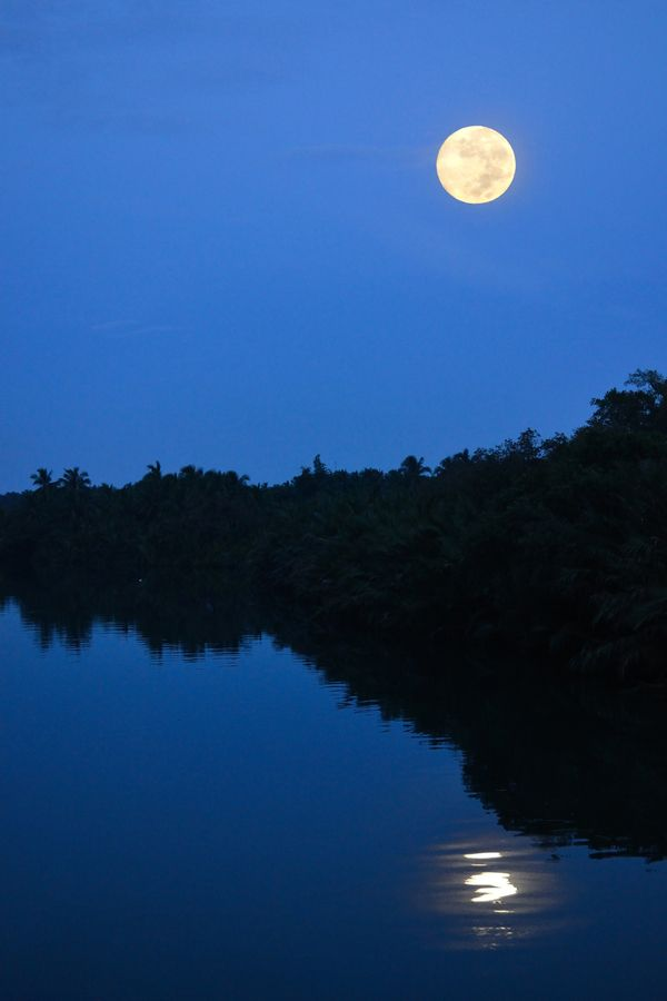 Full Moon Over Loom River Philippines Beautiful Moon Moonscape Night Aesthetic