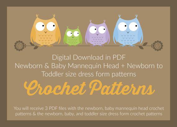 CROCHET PATTERNS Newborn and Baby Mannequin by ThornwoodDesigns