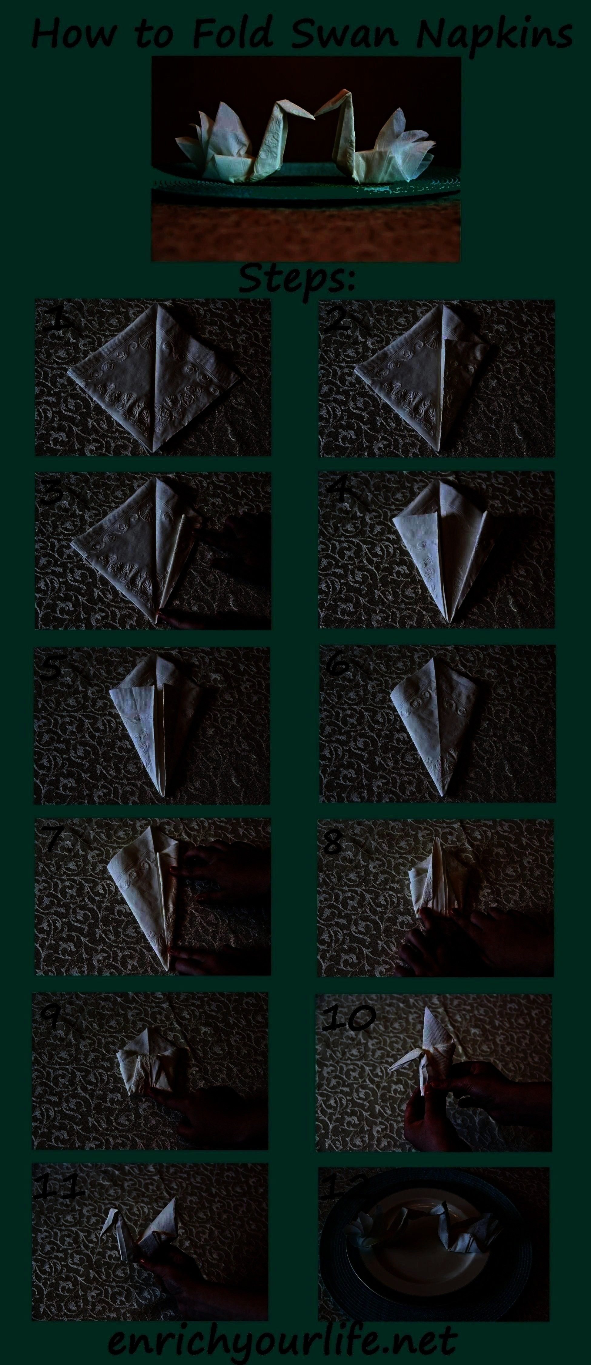 Step enrichyourlife01 How to Fold a Swan Napkin Step by Step enrichyourlife01 Diy AbschnittHow to Fold a Swan Napkin Step by Step enrichyourlife01 Diy Abschnittto Fold a...