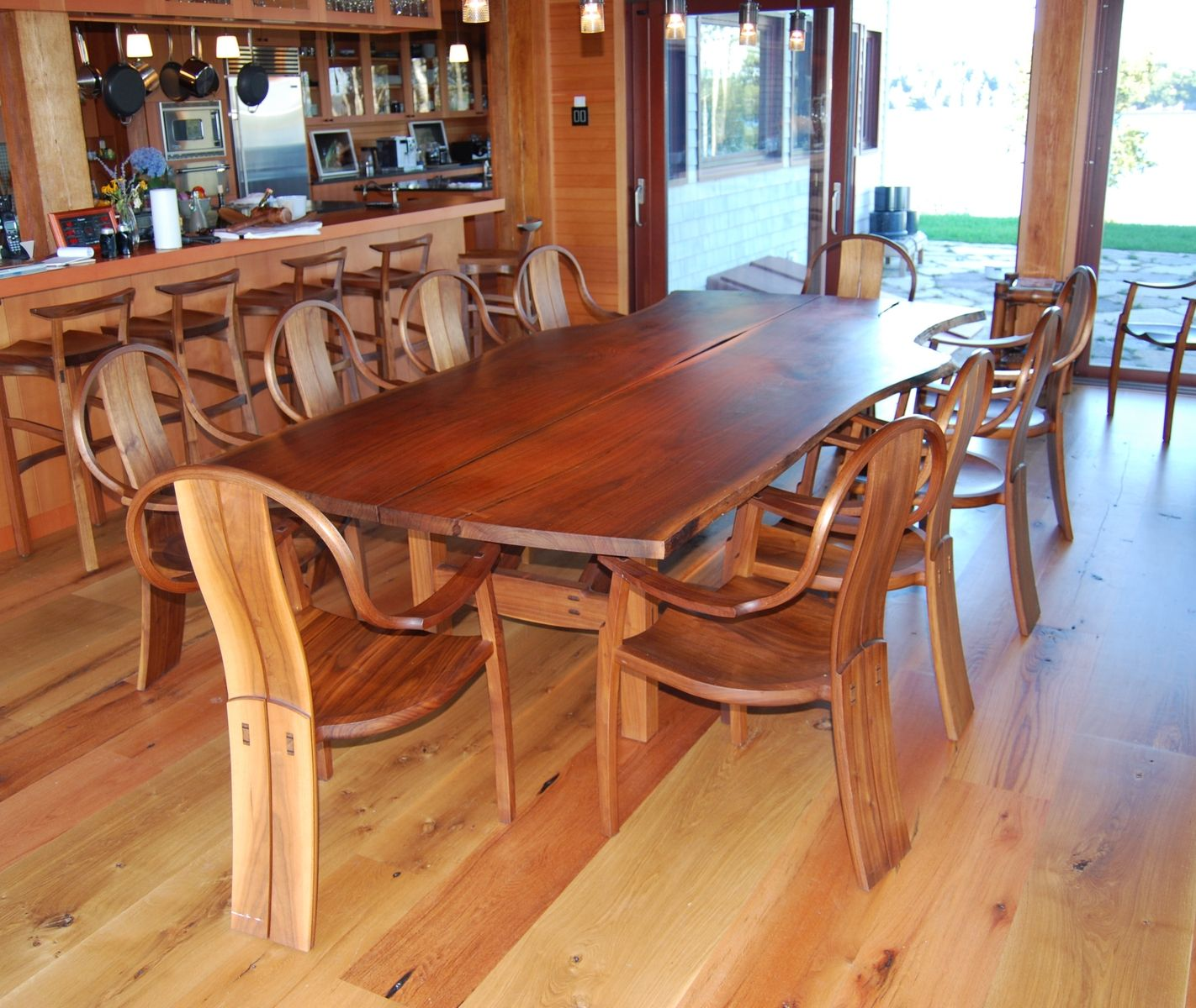 Custom Made Walnut Dining Tablegeoffrey Warner Studio Enchanting Custom Made Dining Room Tables Inspiration