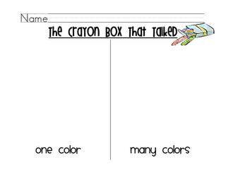 The Crayon Box That Talked Crayon Box Kindergarten Writing