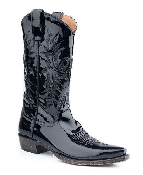 0ca4a7c54c0da Stetson Black Patent Leather Cowgirl Boots - Snip Toe | Cowgirl ...