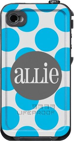 Dots Monogrammed LifeProof Cases | Dots Personalized LifeProof Case