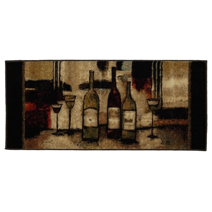 Mohawk New Wave Wine And Glasses Individual Rug Or Set Rugs