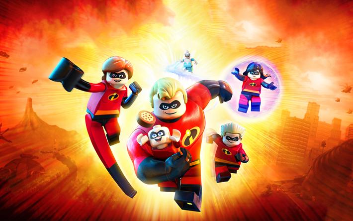 NEW LEGO INCREDIBLES FAMILY LOT 5 Minifig Lot jack jack violet elastigirl dash
