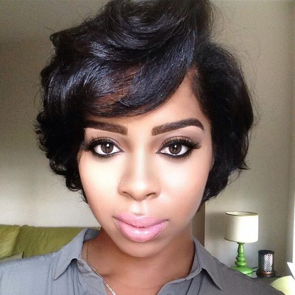 groovy short bob hairstyles ideas for black women in