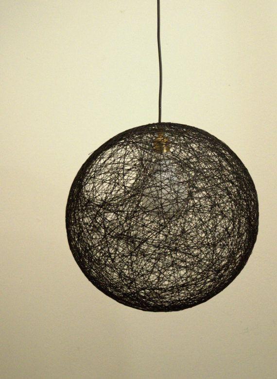 Black sphere pendant light modern pendant lamp lighting fixture black sphere pendant lamp modern pendant lamp string shadow lamp sphere pendant light aloadofball Gallery