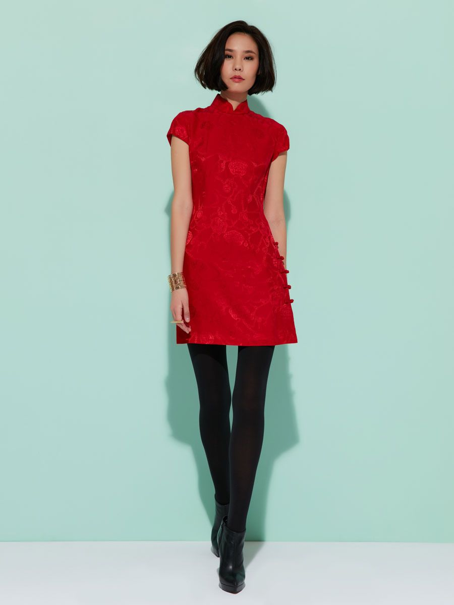 Red wedding dress meaning  Inspired by Chinese tradition and culture this silk mini dress is a