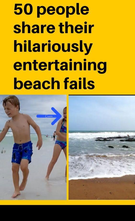 50 people share their hilariously entertaining beach fails
