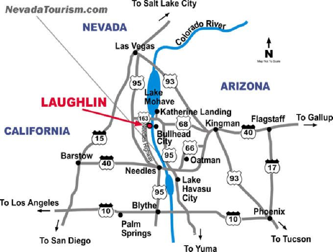 Map Of Arizona Bullhead City.Laughlin Nevada My Vacation Laughlin Nevada Nevada Map Vegas