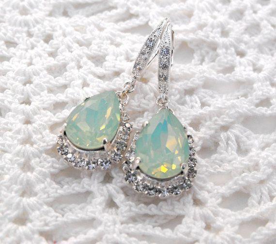 Seafoam Green Wedding Ideas: Beach Wedding Mint Opal Seafoam Green By