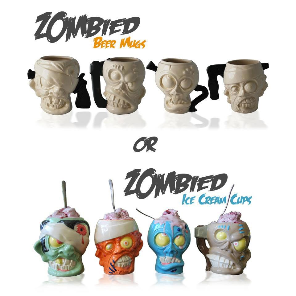 Zombied beer mugs or ice cream bowls
