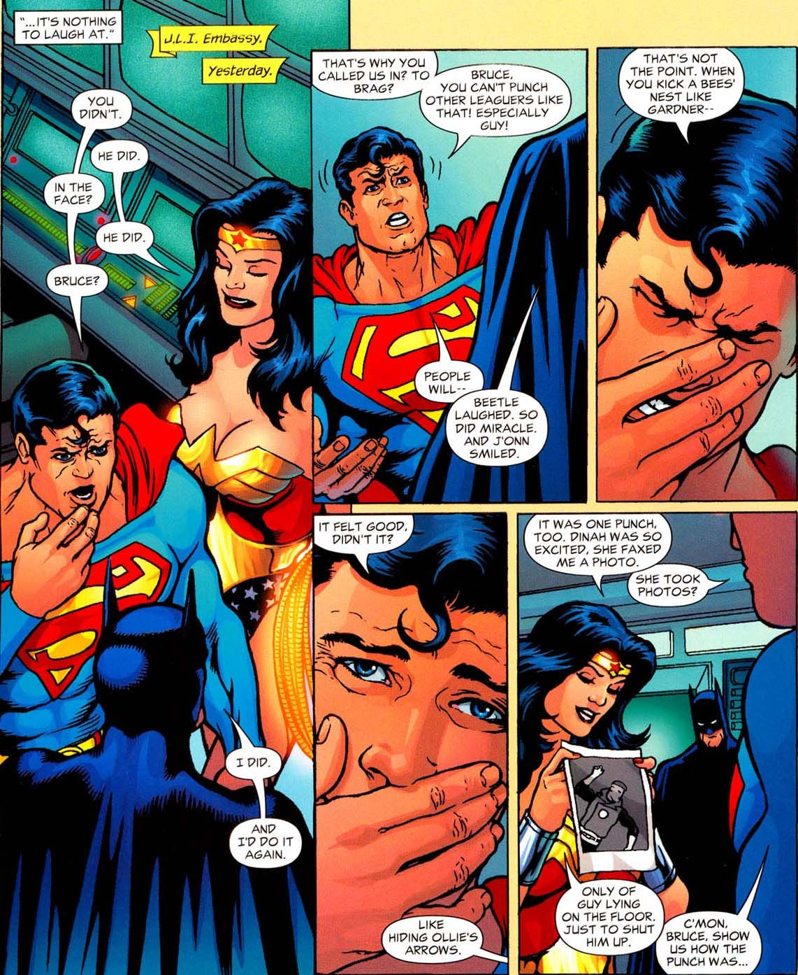 Superman: You didn't. Wonder Woman: He did. Superman: In ...