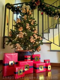 inspiration and realisation: DIY fashion blog: DIY wrapping gifts: Santa's belt